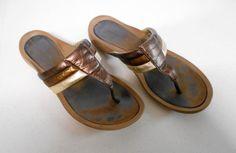 Nike G Series Metallic Bronze Gold Flip Flop Sandals Shoe Sz B Medium 8996 Gold Flip Flops, Flip Flop Sandals, Shoes Sandals, Metallic, Bronze, Nike, Medium, Best Deals, Casual