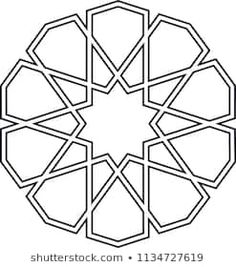 Ottoman Tile & Tezhip motifs are very similar to each other. Sacred geometry, star mandala, vector i Motifs Islamiques, Islamic Motifs, Islamic Art Pattern, Arabic Pattern, Stencil Patterns, Pattern Art, Embroidery Patterns, Geometric Designs, Geometric Art