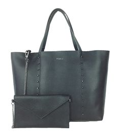 9fd79968ea4b Furla Elle Rock Studded M Leather Tote Bag, Black. #BestPrice ! Black  Leather