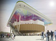 Designed to be a pavilion for the Milan 2015 Expo, this structure by Andrea Maffei uses a simple design to represent the rich and multifaceted history of Italia Expo Milano 2015, Expo 2015, Pavilion, Modern Architecture, Rome, Competition, Around The Worlds, City, Architectural Sketches