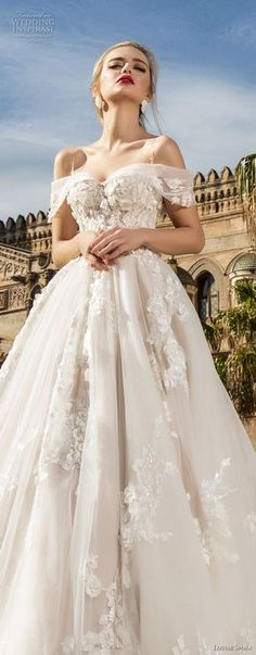 louise sposa 2018 bridal off the shoulder sweetheart neckline heavily embellished bodice romantic princess ball gown a line wedding dress royal train (1) lv -- Louise Sposa 2018 Wedding Dresses