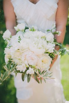 peony, garden rose, freesia, olive branch and jasmine bouquet- a mediterranean/ moroccan palm springs wedding