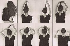 no heat hairstyles | Top Knot Bun | teen's digest