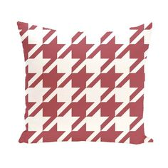 E by Design Houndstooth Decorative Pillow Rust Polyester - PGN164RE5-18