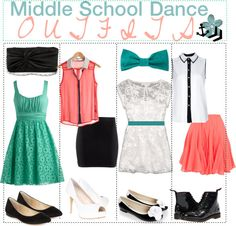 Some nice outfits to wear to a middle school dance Some nice Middle School Outfits Dance middle Nice outfits school schooldancedresses wear School Outfits For Teen Girls, Cute Middle School Outfits, Middle School Fashion, Summer School Outfits, Outfits For Teens, School Style, Spring Outfits, Girly Outfits, Dance Outfits
