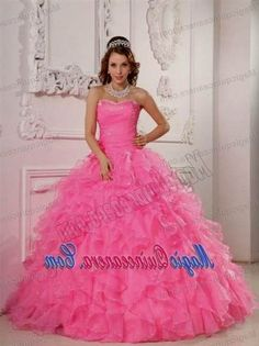 Nice quinceanera dresses puffy pink 2017