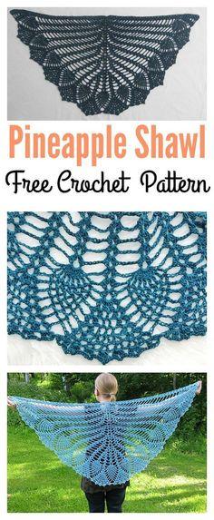 Free Crochet Pineapple Shawl