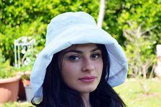 Women Summer Hat Wide Brim White Sun Hat Lightweight Hat Vintage Accessories Gift for Her
