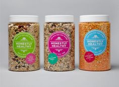 Honestly Healthy - Really Real Food Packaging designed by & Smith