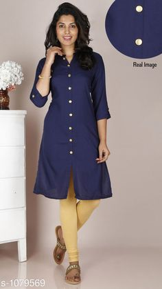 Kurtis & Kurtas Women's Solid Rayon Kurti  *Fabric* Rayon  *Sleeves* 3/4 Sleeves Are Included  *Size* M - 38 in, L - 40 in, XL - 42 in, XXL - 44 in  *Length* Up to 42 in  *Type* Stitched  *Description* It Has 1 Piece Of Kurti  *Pattern* Solid It Has 1 Piece Of  free mask  *Sizes Available* M, L, XL, XXL *    Catalog Name: Free Mask Women'S Solid Rayon Kurtis CatalogID_132345 C74-SC1001 Code: 733-1079569-