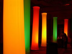 Sew What? Inc. spandex columns from stretch flame retardant fabric by concerts and curtains, via Flickr