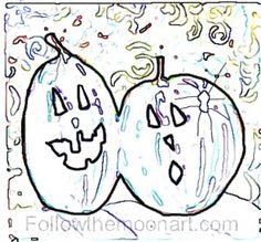 Jack O Lanterns & spider Halloween pattern