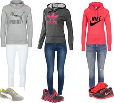 Love the Adidas and Nike outfits! Nike Outfits, Moda Outfits, Sport Outfits, Casual Outfits, Sport Fashion, Look Fashion, Fitness Fashion, Fitness Outfits, Ski Fashion