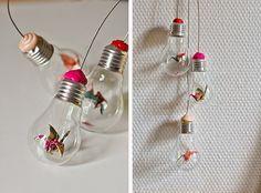 Como reaproveitar as lâmpadas velhas