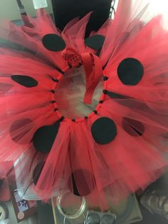 Ribbon Tutu, Ladybug, To My Daughter, Halloween Costumes, Skirt, Creative, Diy, Lady Bug, Bricolage