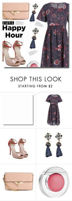 """Happy"" by soks ❤ liked on Polyvore featuring H&M, Estée Lauder and polyvoreeditorial"