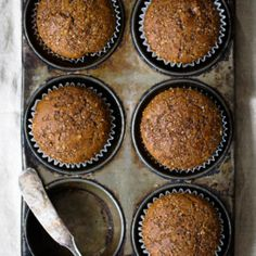 Healthy gingerbread muffins that are incredibly fluffy, warm and perfect with a cup of coffee. One of my favorite muffins to enjoy during the Winter. 134 calories per muffin! #gingerbread #muffins #healthybaking #breakfast #healthysnack Healthy Muffin Recipes, Healthy Muffins, Healthy Sweets, Healthy Baking, Breakfast Recipes, Healthy Man, Healthy Snacks, Vegetarian Recipes, Muffins Blueberry