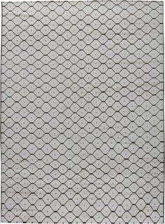 Modern Moroccan Geometric Black and White Hand Knotted Wool Rug by DLB Modern Carpet, Modern Rugs, Modern Living, Vintage Modern, Vintage Rugs, Indigenous Tribes, Modern Moroccan, Simple Pattern, Living Room Carpet