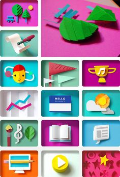 Paper icons - laura dreyer