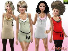 Sims 3 dress, fashion, clothing, female