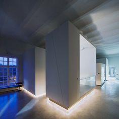 Goldberger by Tervhivatal - Dezeenhave have this type of lighting underneath the kitchen island