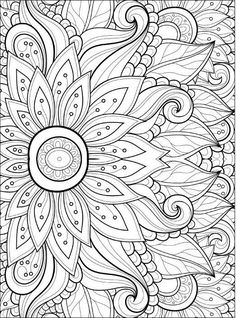 adult coloring pages flowers 2 2 - Free Coloring Book Pages