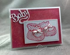 Miriam's Delirium used Serendipity Stamps' Baby Die and Baby Bootie Large stamp