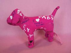 Victoria's Secret Pink dark puppy dog See you tonite plush animal kids childs $24.98