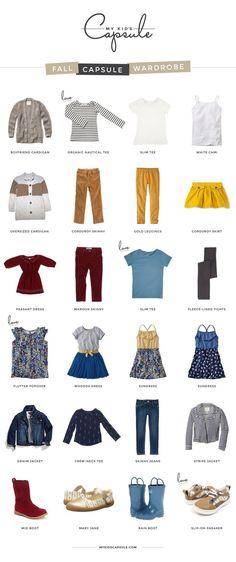 Toddler girls fall capsule wardrobe