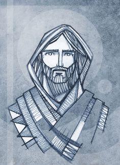 Hand drawn illustration or drawing of Jesus Christ Face Jesus Artwork, Jesus Christ Painting, Christian Drawings, Christian Art, Catholic Art, Religious Art, Tattoo Cristo, Croix Christ, Jesus Drawings