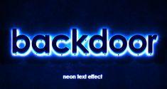 PSD Neon Text Effect Vol2