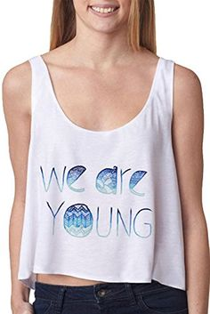 63eb0e8722ebb Cfanny Women s We are Young Flowy Boxy Tank Top