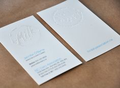 BC Dairy business card - deboss and gloss