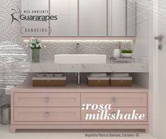 Lindo e sofisticado, o banheiro assinado pela arquiteta Patricia Damiani - Arq&Urb, de Criciúma (SC), teve o móvel confeccionado com o padrão Rosa Milkshake, da linha Colors. O tom, contemporâneo e suave, também se prova extremamente versátil. Quer aparecer por aqui? Compartilhe conosco seu projeto com MDF Guararapes. ;)
