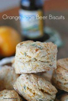 Orange-Sage Beer BIscuits