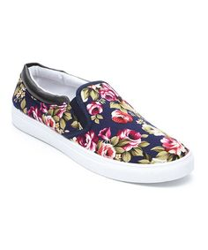 Look what I found on #zulily! Blue Floral Slip-On Sneaker by Transco #zulilyfinds