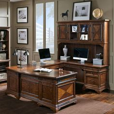 Lewis Right U Desk And Hutch · CostcoHutchHome OfficeDesk
