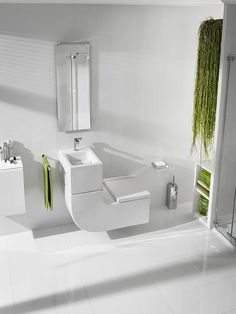 Roca's striking W+W integrated WC and basin takes up less room than standalone pieces and saves water too