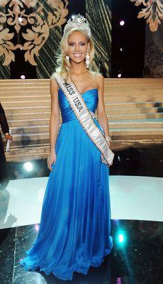 Miss USA Kristen Dalton looks gorgeous in a blue gown.