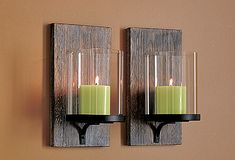 Modern Rustic wall sconces... love these!