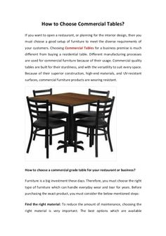 Choose the right type of Commercial Tables for your space. There are many dealers are available in the market. Australian Slimline Trestles provide a huge range of commercially built furniture to suit your needs at very competitive rates.
