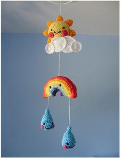 ★ DIY Hanging Rainbow Mobile Tutorial || Free Pattern ★