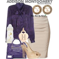 Inspired by Dr. Addison Montgomery played by Kate Walsh on TV's Private Practice.