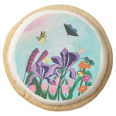 Garden of Heavenly Delights Round Shortbread Cookie - plain gifts style diy cyo
