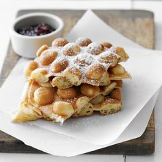 """A Hong Kong favorite, the puffy, doughy """"egg waffles"""" are traditionally cooked by sidewalk vendors and enjoyed for breakfast and snacks. Now you can make them at home!"""
