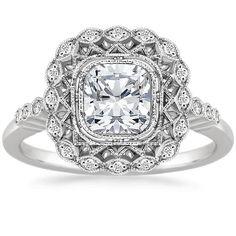 18K White Gold Alvadora Diamond Ring from Brilliant Earth