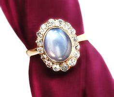 Turn of the 20th C. Moonstone Diamond Ring