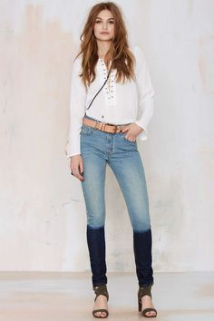 Courtshop Shadow Skinny Jeans | Shop Clothes at Nasty Gal!