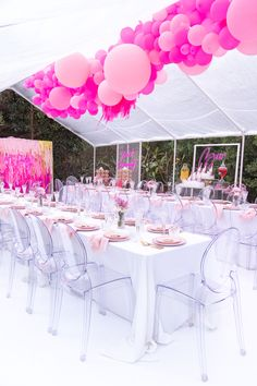 Sep 2019 - Oh what a view! this epic balloon install by and AMAZING new ghost chairs by Birthday Goals, 30th Birthday Parties, Birthday Party Themes, Grad Parties, Birthday Ideas, Sweet 16 Party Decorations, Birthday Balloon Decorations, Backyard Birthday, Barbie Party