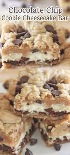 Chocolate Chip Cookie Cheesecake Bar